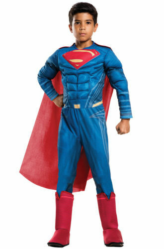 Superman MUSCLE Deluxe Costume L 12-14 Child Boy Kid Halloween