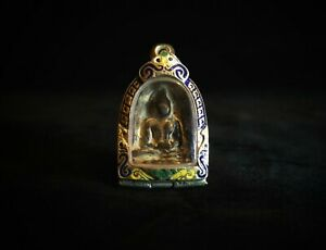 Thai Ancient Phra Sum Kor Amulet Buddha Good Holy For Lucky c/w Certificates