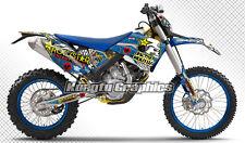 2009 2010 2011 2012 Husaberg FE FX FS 390 450 570 Bike Decal Kungfu Graphics kit