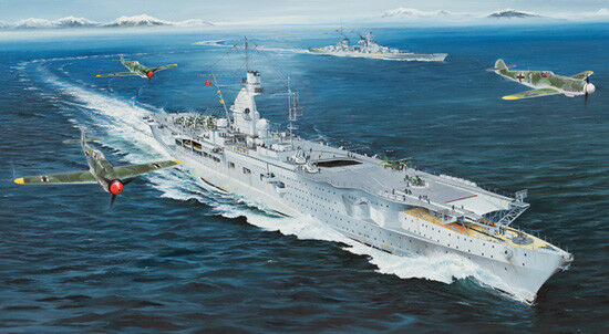 German Navy Aircraft Carrier Dkm Peter Strasser 1 350 Plastic Model Kit