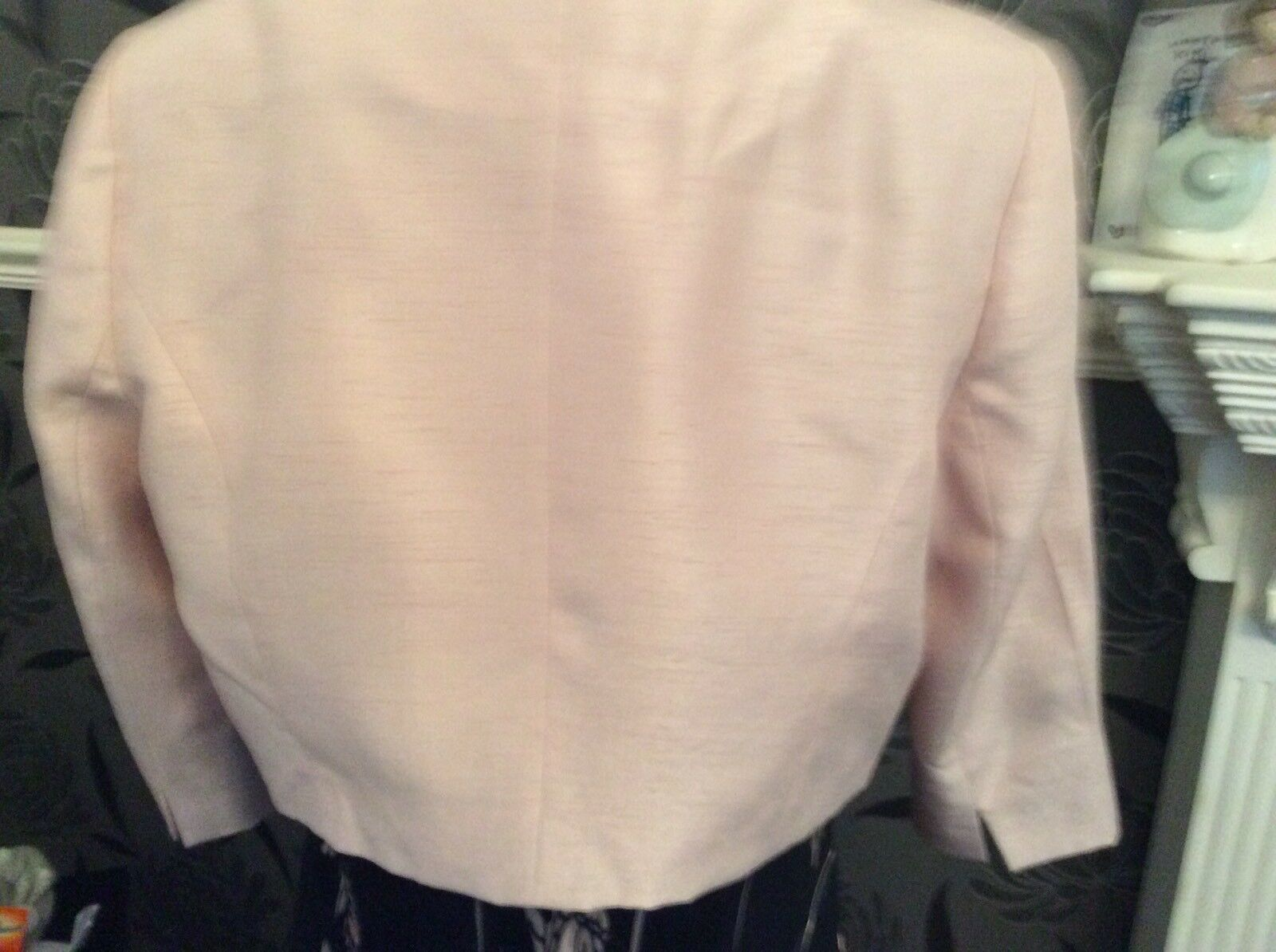 Jacques green NAvy Pink Monique Silk Silk Silk Mix Dress 16 Bolero 14 Ec Holiday c75ac5