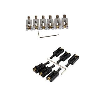 6-Roller-Pont-Tremolo-saddles-avec-cle-pour-Fender-Strat-Tele-electrique-Guita