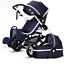 buggy-Baby-Stroller-3-in-1-High-view-Pram-foldable-pushchair-bassinet-amp-Car-Seat