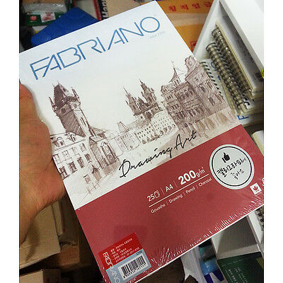 FABRIANO Drawing Art Sketch Paper Book A4 200gsm 25 Sheets Pad Type White Color