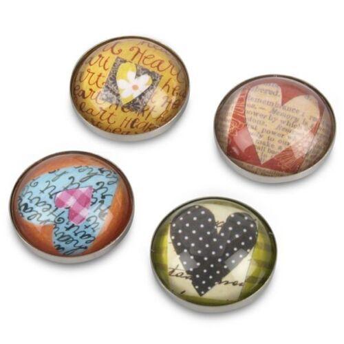 Hearts 4er Set Kühlschrankmagnet iPOP DesignMagnet Herzen zum Verschenken