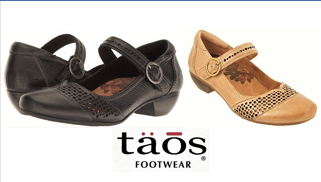 Taos shoes Esteem - leather comfort dress heels with strap