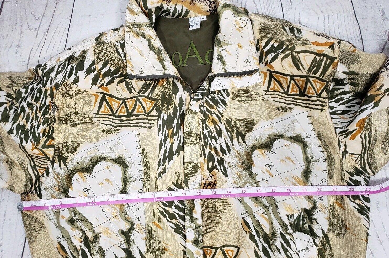 Coaco 100% Silk Small Jacket Multi Color Full Zip… - image 7