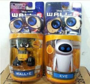 Diseny-Pixar-Wall-E-and-Eee-Vah-EVE-Set-of-2pcs-Mini-Robot-Action-Figure-Toy-New