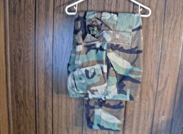 Army Combat Pants Woodland Camo BDU Small Regular Paintball Prepper Hunting