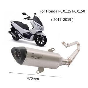 For-2017-2019-Honda-PCX125-PCX150-Exhaust-Pipe-Motorcycle-Header-51mm-Muffler