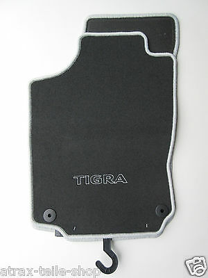 Original Opel Tigra B Fussmatten Velours schwarz Matten 1724554 Autoteppich