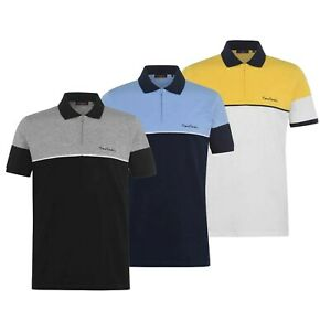 Homme-Pierre-Cardin-plie-col-Casual-Zip-Polo-Shirt-Top-Tailles-S-a-XXL
