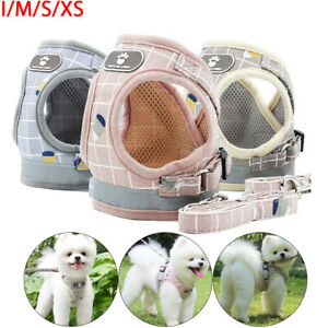 Puppy-Small-Dog-Cat-Harness-and-Walking-Leads-Set-Pet-Supplies-Reflective-Vest