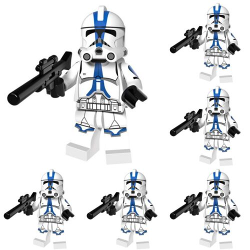 16Pcs BLUE STAR WARS Appo CLONE TROOPER Figures Building Toy LEGO compatible NEUF