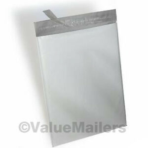 100 EA 7.5x10.5, 9x12 WHITE POLY SHIPPING MAILERS BAGS