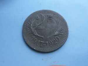 France-25-centimes-1917-1920-Chambers-de-Commerce-L-Herault-Good-Condition