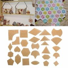 54pcs Mixed Handmade Quilt Templates DIY Tools Patchwork Quilter Quilting Supply