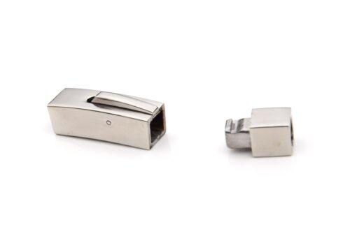 Cuboide de acero inoxidable cierre de enclavamiento botón de liberación de oro blanco Joyas Hazlo tú mismo