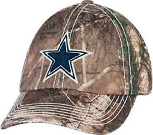 b4fc9f504 Dallas Cowboys Cap Adjustable Hook N Loop Predator Decoy Realtree Camo Hat  NFL