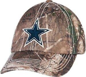 Dallas Cowboys Cap Adjustable Hook N Loop Predator Decoy Realtree Camo Hat  NFL 85dd8bf52