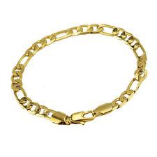Luxury 6 mm width design 18 k Gold Plated Bracelet for Men Man Jewellery BB126