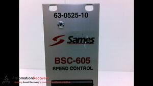 SAMES 63-0525-10 SPEED CONTROL CIRCUIT BOARD, #202524