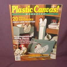 Plastic Canvas Magazine Sept/October 1991 20 Projects Fall Hen Message Holder