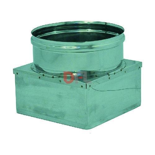 RIDUZIONE PER CANNE CANNE CANNE FUMARIE IN ACCIAIO INOX CM. 30X30 - Ø CM. 30 f3125a