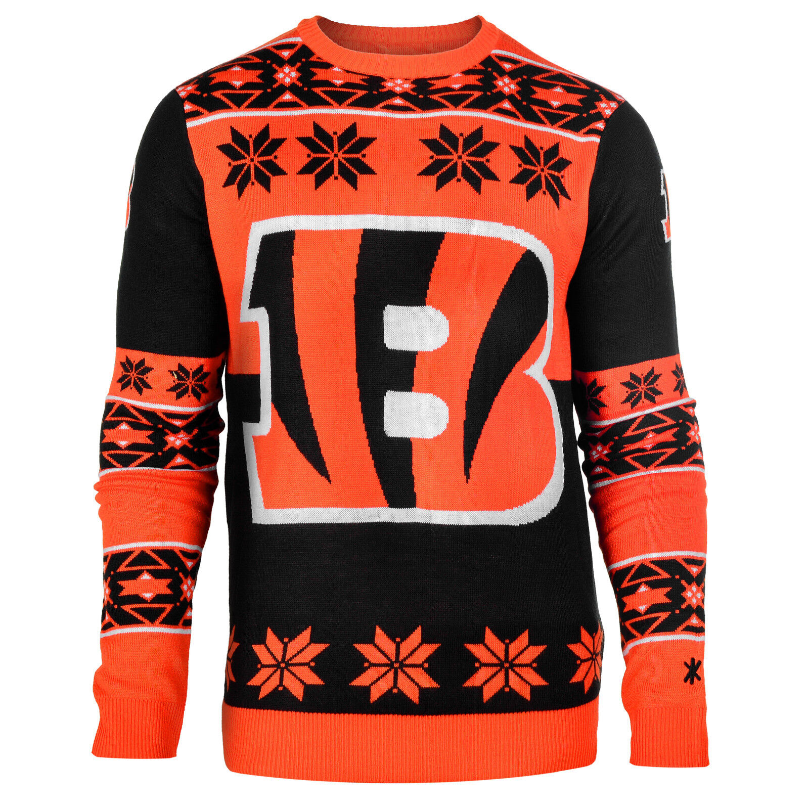 NFL Ugly Sweater Pullover Christmas Style Cincinnati Bengals Big Logo Football