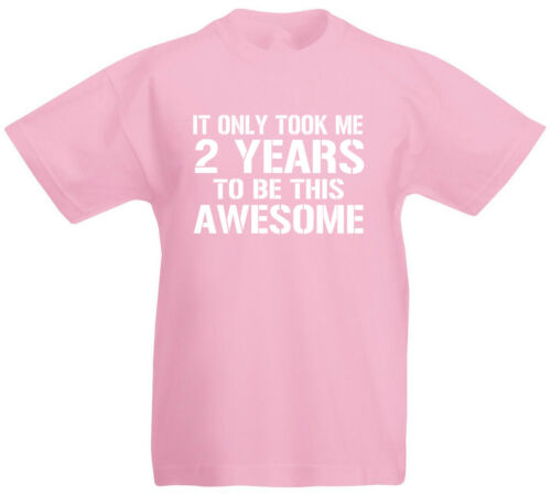 2nd Birthday Gift T-Shirt For 2 Year Old Boys /& Girls It Only Took Me 2
