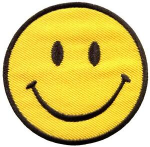 Smiley-face-retro-boho-hippie-70s-embroidered-applique-iron-on-patch-S-716