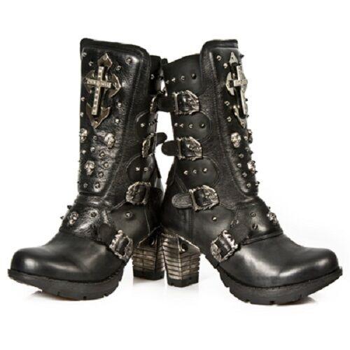 New Rock bota botas señora Gothic negro 30 días m.tr018-c1