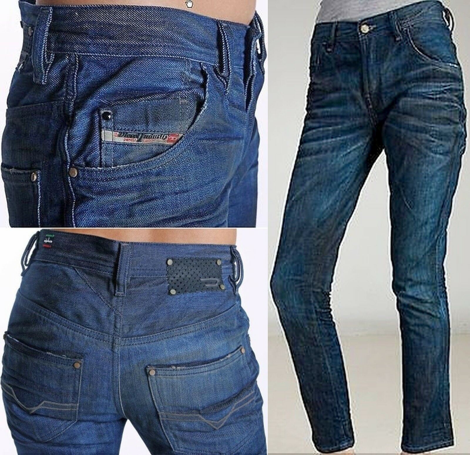 Diesel STAFFI 8KZ Women ANKLE Jeans 25 26 Pants SEXY Lady Stylish Gift NEW ITALY