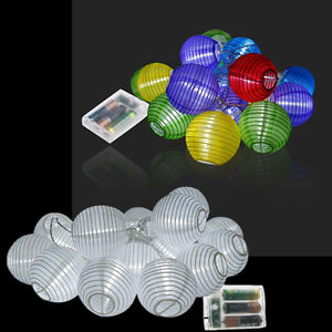 20 30 lampion gartendeko lichterkette laterne lichter beleuchtung batterie neu ebay. Black Bedroom Furniture Sets. Home Design Ideas