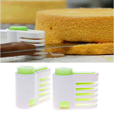 5 Layers Kitchen Cake Bread Cutter Leveler Slicer Cutting Fixator Tool Ajustable