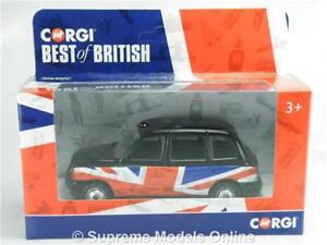 LONDON-TAXI-CAR-MODEL-CORGI-BEST-OF-BRITISH-1-36-GS85909-UNION-JACK-COLOUR-R01Z