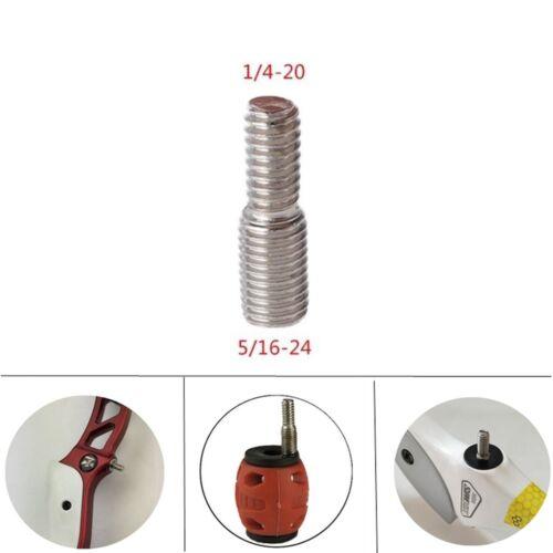 Archery Bow Stabilizer Mount Screw Bolt 1//4-20,5//16-24 Thread Adapter Balance