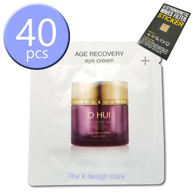 O HUI Age Recovery Eye Cream 1ml x 10 / 20 / 30 / 40pcs+ 2gift KOREA  Cosmetic LG