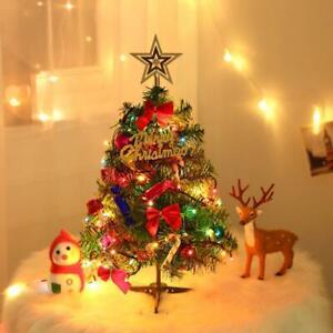 Kleiner Weihnachtsbaum Mit Beleuchtung.Details Zu 1x 50cm Tisch Kunstlicher Kleiner Mini Weihnachtsbaum Mit Led Licht Ornamenten