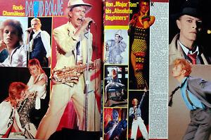 David Bowie 2 BRAVO Seiten A4 80er Poster Plakat 1986 - 18