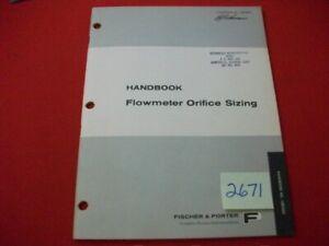 1968-FISCHER-amp-PORTER-CO-FLOWMETER-ORIFICE-SIZING-HANDBOOK-SPECIFICATIONS-MORE