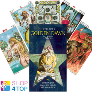 Details about INITIATORY TAROT OF THE GOLDEN DAWN DECK CARDS BERTI ESOTERIC  TELLING NEW