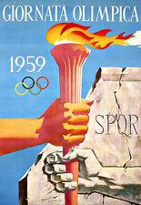 Art Ad  1959  Italian Olympic Games Poster Print