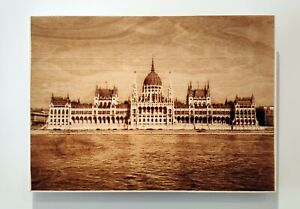 Hungarian-Parliament-Large-Pyrography-Wood-Art-Wall-Picture-12-034-x-16-5-034-inch