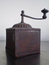 MOULIN A CAFE ANCIEN TOLE MANIVELLE DECO CUISINE CAMPAGNE COFFEE GRINDER
