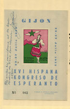 Spain 1955 Costumes Esperanto Congress Souvenir Sheet Louis Obrecian Autograph