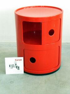 Kartell-Componibili-4966-Anna-Castelli-Ferrieri-2-Compartimentos-Rojo-Contenedor