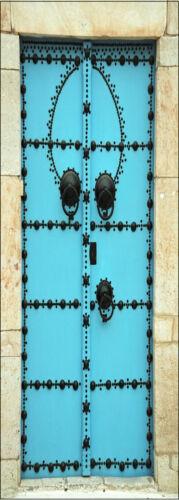 Affiche poster porte déco trompe l/'oeil Porte bleu réf 060-4 dimensions
