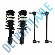 Both (2) Front Complete Strut w/Coil and Spring Assembly Sway Bar Link Malibu/G6