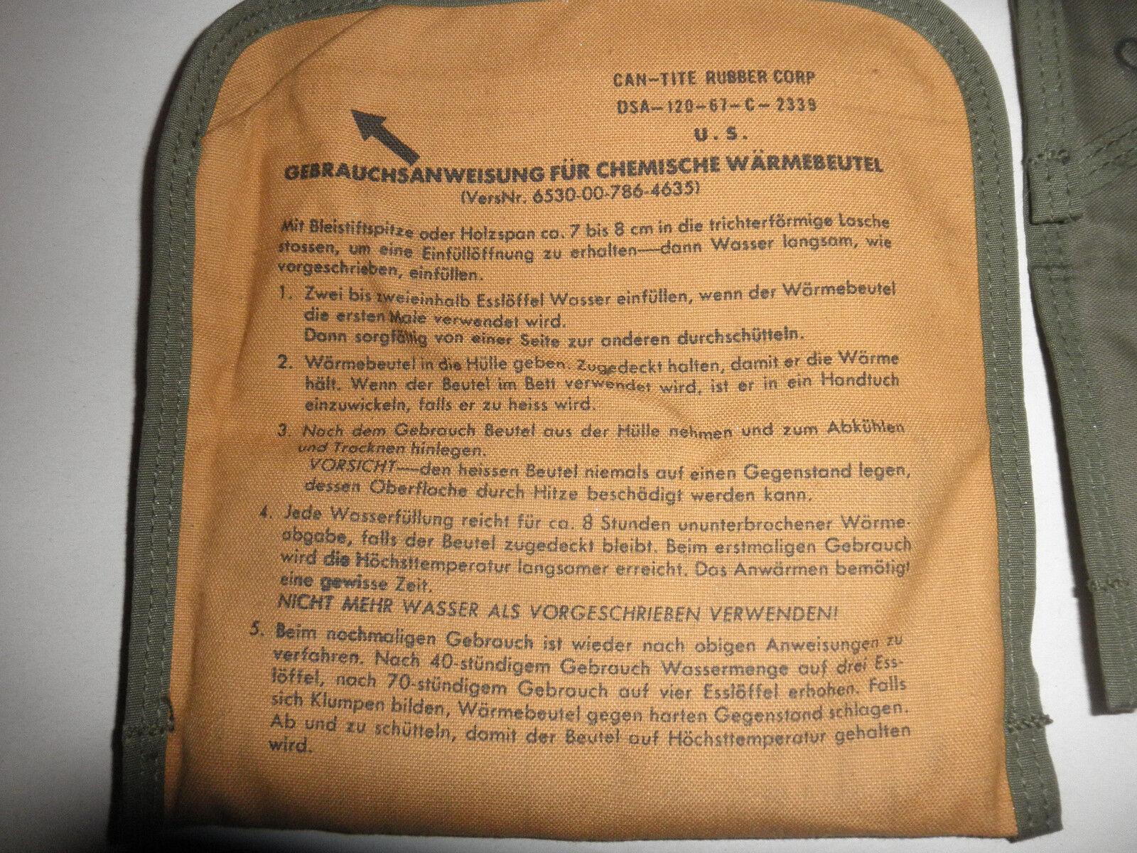 12 x  Bundeswehr US Armee Wärmebeutel